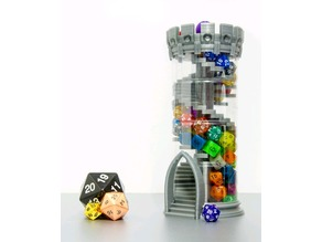 Dice Tower with Storage (double helix)
