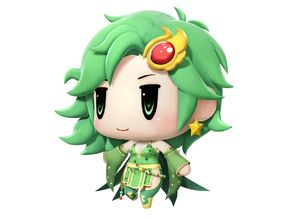 Rydia Chibi From Final Fantasy IV