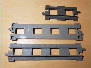 LEGO Duplo train track: straight (double size for bridges)