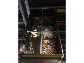 Séparateur casier raaco 36 tiroirs