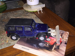 Jeep Wrangler Unlimited plow blade 1/32nd scale