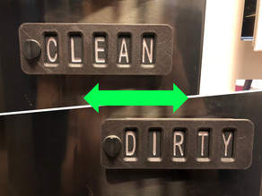 Sliding Word Changing Dishwasher Sign