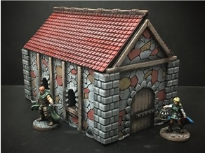 Medieval Cottage (28mm/Heroic scale and 15mm scale)