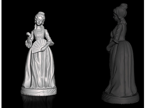 Woman statuette - donna degli anni 40