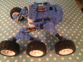 Parts list and simple wiring diagram for Martian rover build