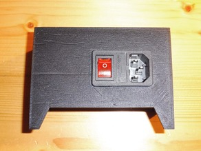Anet A8 - Power Supply Cover with Switches - 2 versions