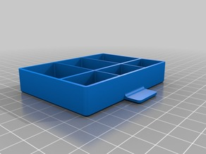 Drawer box with six compartments