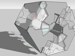 Manifold Lock-Tab Hexagonal Box