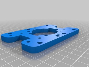 X carriage for igus pillow block bearings with rear fan mount with rotated extruder mounting