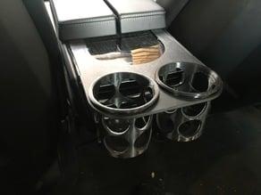 Rear cupholder for Tesla Model S