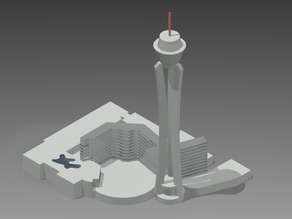 Las Vegas Stratosphere Hotel and Casino - The Tallest Free Standing Observation Tower in the US