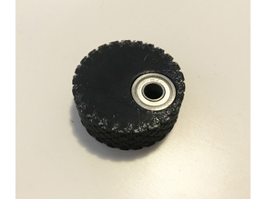 "1/4"" ""D"" shaft knurled knob with ""scroll assist"" bearing"