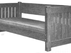 Mission Style Settee 1:24 scale