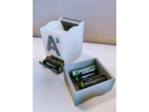 Top container for battery stackable holder