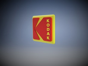 3D Kodak Logo Sign (2016) for Display