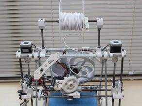 Prusa Mendel i2 frame mounted spool holder