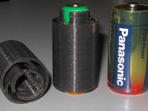 AA to C Battery Adapter