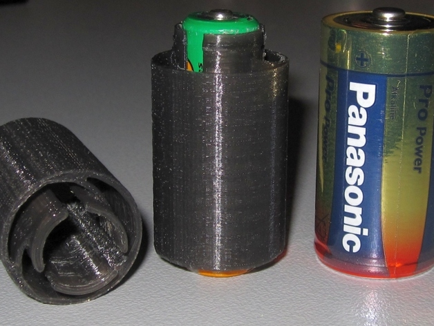 AA To C Battery Adapter By Blecheimer Dec 25 2012 Thingiview