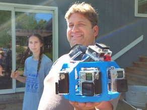 Underwater 360 Gopro rig for 8 cameras