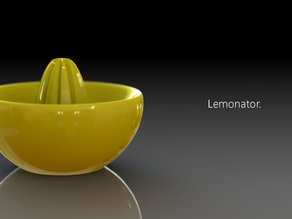 Lemonator! 3D printed juice squeezer of awesomeness