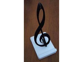 Violin key phone holder