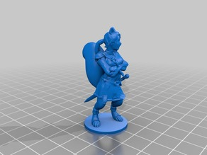 Matsuki - Squirrelfolk Rogue - Dungeons and Dragons Mini