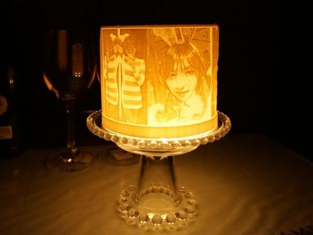Customizable Cylinder Lithophane Lamp By Jmhong Thingiverse