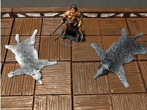 Wolf Pelt / Rug - 28mm gaming