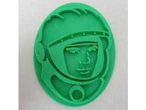 Yuri Gagarin Cookie Cutter/Stamp