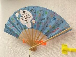 on wall Japanese fan holder