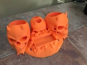 Skull Printer Organizer