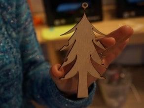 Christmas tree for earrings