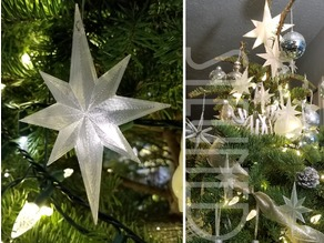 flat bethlehem star ornament