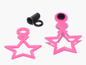 Jem Inspired Star Charms For 4g Single Flare Metal Plugs