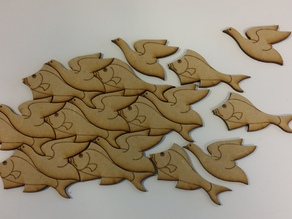 Fish or Fowl? Based on M C Escher's work