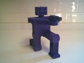 Robot with a real laser gun