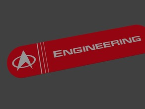 Startrek Engineering Sign