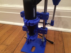 Minicraft MB1012 drill press, customizable clamps and quick release