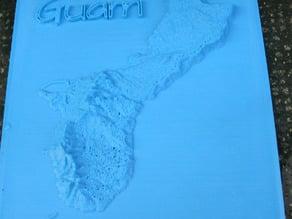 Guam Relief Map