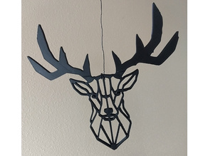 Antlers Split Deer Wall Sculpture 2D II