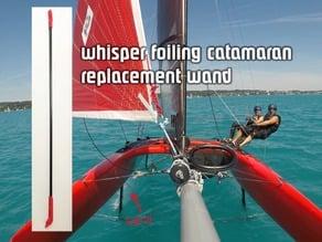 Whisper foiling catamaran wand parts