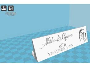 Business Card Holder Stephen B Capano Tectrix Info Mundo 3D print Logos