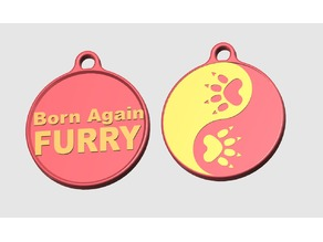 Furry Badge / Born again Furry