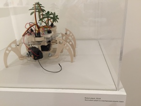 Walking plant hexapod robot