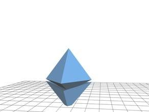 Ethereum 3D unofficial logo