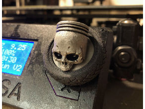 Prusa Knobs - Motorcycle Wheel - Skull Piston