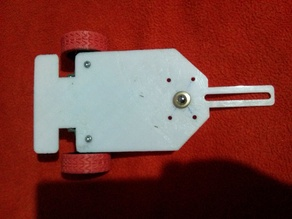 Chassis for line follower with twin motor gearbox tamiya