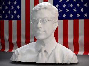 The head of Stephen Colbert
