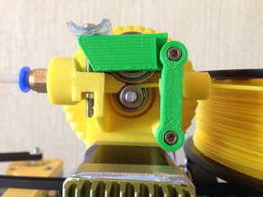 OBSOLETE: Geared extruder with bsp fitting for flexible filament