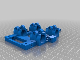 Modified - Reinforced Prusa X Carriage with Slim LM8UU Holder